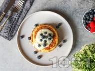 Нисковъглехидратни протеинови палачинки със сирене котидж, яйца и кокосова захар